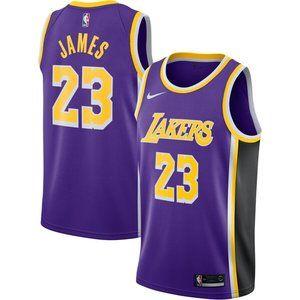 Men's Los Angeles Lakers LeBron James Purple Jerse
